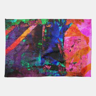 Color Grunge Design Tea Towel