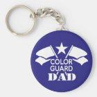Color Guard Dad Key Ring