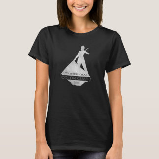 Color Guard Flag Performer Silhouette | T-Shirt