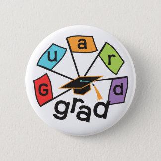 Color Guard Graduate - Graduation Colorful Flags 6 Cm Round Badge