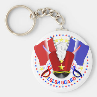 Color Guard Key Ring Basic Round Button Key Ring