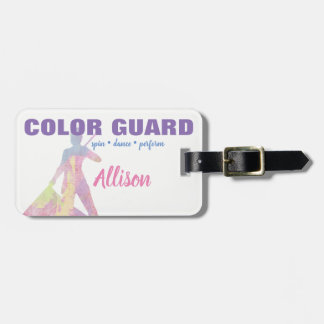Color Guard Spin Dance Perform Flag   Luggage Tag