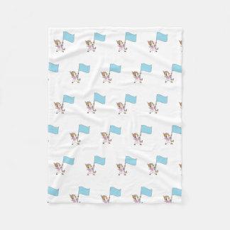 Color Guard Unicorn Fleece Blanket