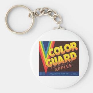 Color Guard Vintage Apples Label Keychains
