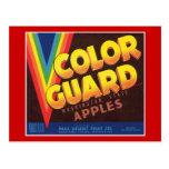 Color Guard Vintage Apples Label Postcard