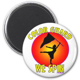Color Guard We Spin Fridge Magnet