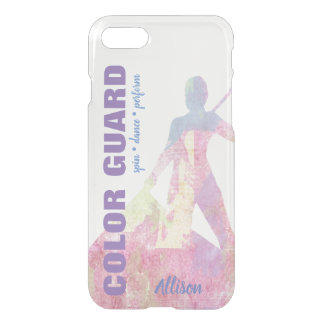 Color Guard With Flag Performer Silhouette Figure iPhone 8/7 Case