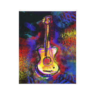 color guitar art painting decor stretched canvas prints