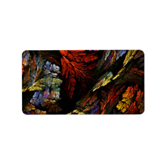 Color Harmony Abstract Art Label