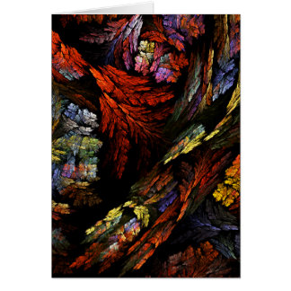 Color Harmony Abstract Art Note Card