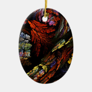 Color Harmony Abstract Art Oval Ornament