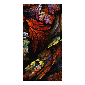 Color Harmony Abstract Art Photo Card