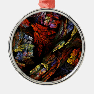 Color Harmony Abstract Art Round Christmas Ornament