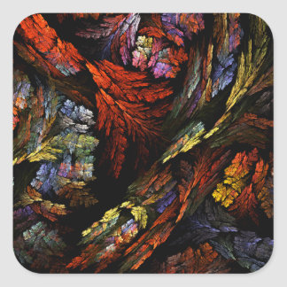 Color Harmony Abstract Art Square Sticker