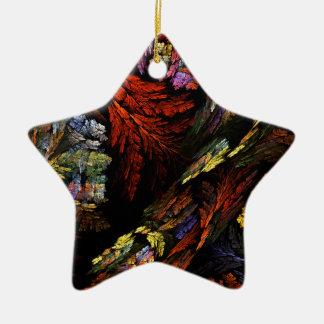Color Harmony Abstract Art Star Ornament