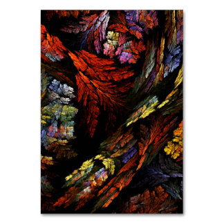 Color Harmony Abstract Art Table Card