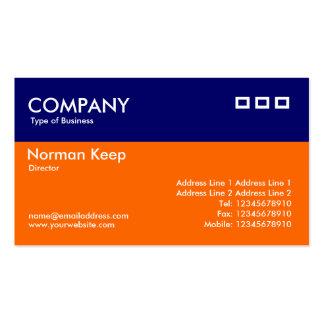 Color Header - Blue and Orange Business Cards