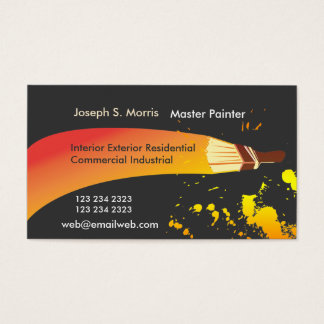 Color House Painter Artistic Brush Business Card