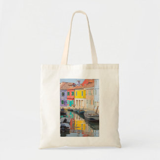 Color houses in Venice island Burano Ital Tote Bag