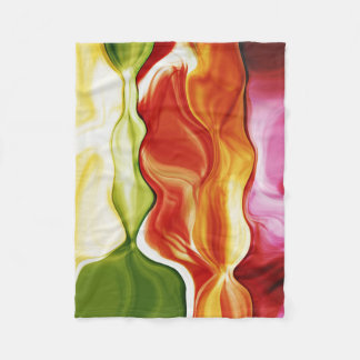 color in motion #2 fleece blanket