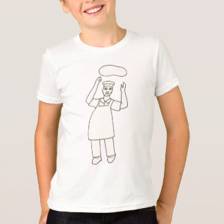 Color in Pizza Chef Drawing shirts