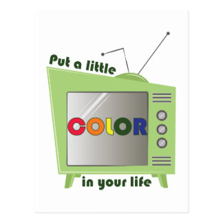 Color In Your Life Postcard