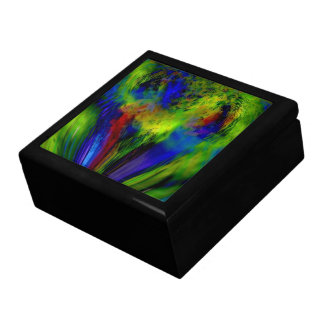 """Color Infusion"" Large Square Tile Keepsake Box"
