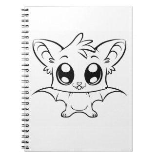 Color It Cute Bat Spiral Notebook