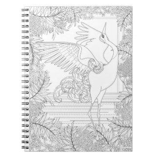Color It! Majestic Crane Spiral Note Books