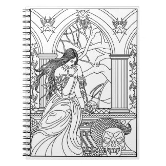 Color It! Mysterious Lady Notebooks