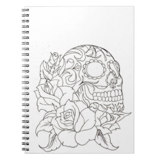 Color It! Skull and Roses Notebook
