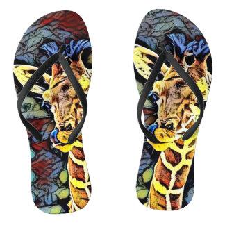 Color Kick - Baby Giraffe Flip Flops