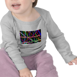 Color Lines on Black in Many Directions Shirt
