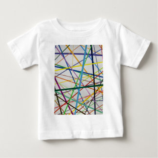 Color lines variety background watercolor painting baby T-Shirt