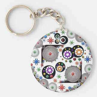 color mangle basic round button key ring