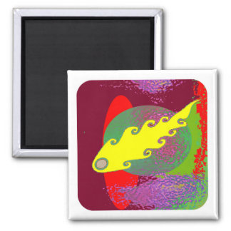 Color Mania : Inflamed in Romance Square Magnet