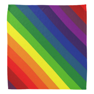COLOR ME A RAINBOW (Striped design) ~ Bandana