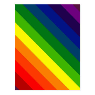 COLOR ME A RAINBOW (Striped design) ~ Postcard