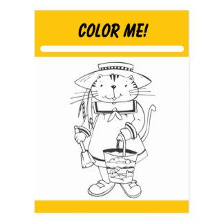 Color Me Activity Card Postcard