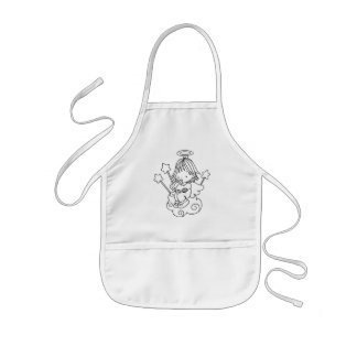 Color Me Angel Baby Bottle and Stars Kids' Apron
