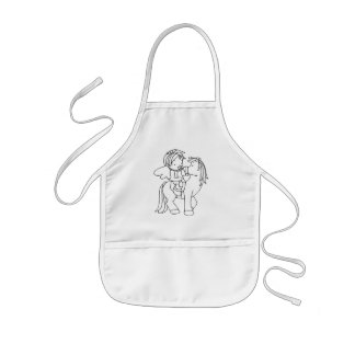 Color Me Angel Baby Look at Me Kids' Apron
