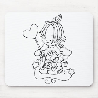 Color Me Angel Baby with Heart Mouse Pads
