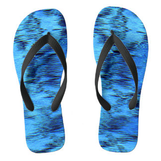 COLOR ME BLUE (an abstract art design) ~ Flip Flops