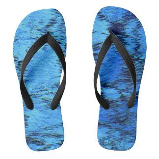 COLOR ME BLUE (an abstract art design) ~.jpg Flip Flops