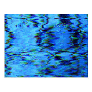 COLOR ME BLUE (an abstract art design) ~ Postcard