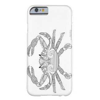Color Me Crab Nautical Zen Doodle Illustration Barely There iPhone 6 Case