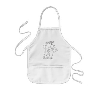 Color Me Donkey and Kitty Kids' Apron