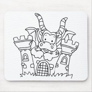 Color Me Dragon and Castle Mouse Pad