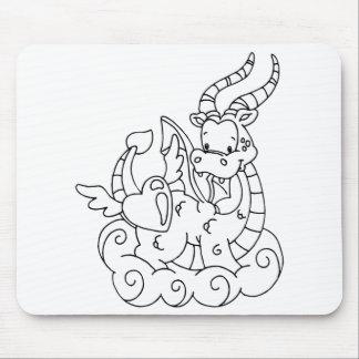 Color Me Dragon Heart Mouse Pads