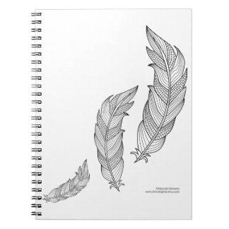 Color Me Feathers Fall Zen Doodle Illustration Notebooks